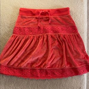 BCBG Maxazria terry soft cloth skirt S orange